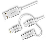 UGREEN USB 2.0 Connect Cable, USB 2.0 to USB 2.0 Type C Micro USB 2.0 Lightning Connect Cable Male - Male 1.0m(3Ft)