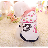 Dog Hoodie Dog Clothes Casual/Daily Fruit White