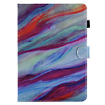 For Case Cover Card Holder Wallet with Stand Flip Pattern Full Body Case Marble Hard PU Leather for Apple iPad pro 10.5 iPad (2017) iPad