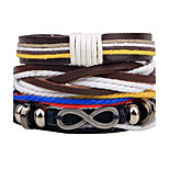 Men's Women's Leather Bracelet Jewelry Fashion Personalized Hip-Hop Handmade Leather Alloy Infinity Jewelry For Daily Casual Street Going