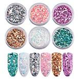 6 цветных ногтей для искусственных ногтей
