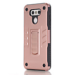 For Case Cover with Stand Back Cover Case Solid Color Soft PC for LG LG G6