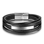 Men's Bracelet Basic Leather Geometric Jewelry For Graduation Daily