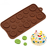 Button Shape Silicone Cake Baking Mould For Candy Cookie Chocolate