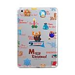 Für iPad (2017) iPad 10.5 iPad Pro 12.9 '' Hüllen Cover Transparent Muster Rückseitenabdeckung Hülle Weihnachten Weich TPU für Apple IPad