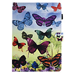 For Case Cover Card Holder Wallet with Stand Flip Pattern Full Body Case Butterfly Hard PU Leather for Apple iPad pro 10.5 iPad (2017)
