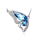 Women's Choker Necklaces Pendant Necklaces Crystal Cubic Zirconia Bowknot Zircon Silver Plated Fashion Personalized Jewelry For Wedding