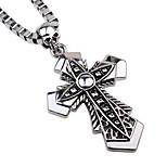 Муж. Заявление ожерелья Бижутерия Крестообразной формы Сплав Хип-хоп Простой стиль Бижутерия Назначение Повседневные