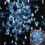 12 coloré / ensemble radium la lune forme paillettes décoration brillante 1g / boîte