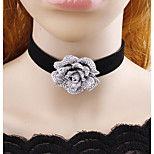 Women's Choker Necklaces Jewelry Flower Flannelette Adorable Classic Jewelry For Casual Stage