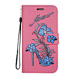 For Case Cover Card Holder Wallet with Stand Flip Pattern Full Body Case Flower Glitter Shine Hard PU Leather for Sony Sony Xperia XZ