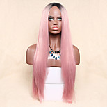 Women Synthetic Wig Capless Long Straight Pink Lolita Wig Party Wig Halloween Wig Carnival Wig Cosplay Wigs Natural Wig Costume Wig