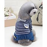 Собака Комбинезоны Одежда для собак На каждый день Полоски Серый Красный