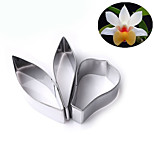 3Pcs Stainless Steel Flower Petal Cookie Cutters Fondant Cake Decorating Tool
