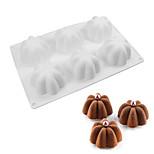 6 лепестковых форм силиконовый торт формы дий мусс пудинг шоколадные пироги коричневый десерт