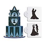 Cake Stencil Baking Mould Spray/Cake/Printing/Sugar Powder Sieve Wedding 2PCS