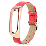 New Leather Smart Wrist Watch Band for Xiaomi Miband 2 (RedGold)