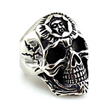 Men's Women's Midi Rings Metallic Statement Jewelry Stainless Steel Skull / Skeleton Jewelry For Halloween Gift