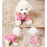 Dog Sweatshirt Dog Clothes Casual/Daily Geometic Blushing Pink Gray Dark Blue