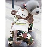 Собака Комбинезоны Одежда для собак На каждый день Носки детские Коричневый