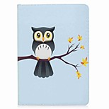 For iPad (2017) Case Cover Card Holder Wallet with Stand Flip Pattern Magnetic Full Body Case Owl Hard PU Leather for Apple iPad pro 10.5