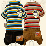 Dog Clothes/Jumpsuit Dog Clothes Casual/Daily Stripe Blue Red Gray