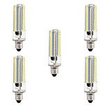 BRELONG Dimmable E11 E12 E14 E17 8W 152x3014SMD 3000-3500K/6000-6500K Warm White/White Light LED Corn Bulb AC110V/220V 5pcs