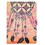 For iPad 10.5 Case Cover Card Holder with Stand Flip Pattern Magnetic Full Body Case Heart Dream Catcher Hard PU Leather for Apple iPad