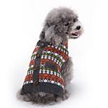 Кошка Собака Плащи Свитера Одежда для собак Для вечеринки Косплей На каждый день Сохраняет тепло Свадьба Рождество Новый год В клетку