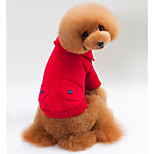 Dog Sweatshirt Dog Clothes Casual/Daily Solid Red Gray Dark Blue