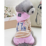 Собака Комбинезоны Одежда для собак На каждый день Буквы и цифры Серый Розовый