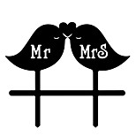Acrylic Cake Insert Bird Mr&Mrs Cake Decoration