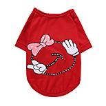Perro Camiseta Chaleco Ropa para Perro Fiesta Cumpleaños Casual/Diario Boda Moda Navidad Princesa Amarillo Rojo Rosa