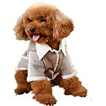 Собака Плащи Одежда для собак На каждый день Английский Серый Коричневый