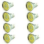 8 piezas 5W Focos LED 55 leds SMD 5730 Decorativa Blanco Cálido Blanco Fresco 800lm 3000-7000K AC 12V
