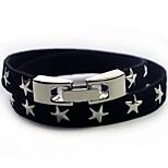 Men's Bracelet Leather Bracelet Jewelry Fashion Simple Style Leather Alloy Star Jewelry For Casual Going out