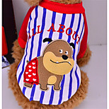 Dog Sweatshirt Dog Clothes Casual/Daily Cartoon Blue Red