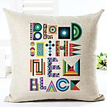1 pcs Linen Pillow Case,Geometric Modern Modern/Contemporary
