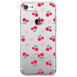 Per iPhone X iPhone 8 Custodie cover Transparente Fantasia/disegno Custodia posteriore Custodia Cartoni animati Frutta Fiore decorativo