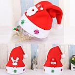 3pc ребенок приветствие рождественская шляпа дети взрослый Санта-Клаус олень снеговик партия милая шапка свадебное украшение beanie