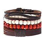Men's Women's Leather Bracelet Fashion Leather Geometric Jewelry For Wedding Party