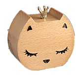 Music Box Wind-up Toy Toys Duck Cat Wood Pieces Unisex Birthday Valentine's Day Gift