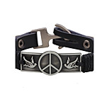 Men's Leather Bracelet Vintage Punk Leather Alloy Round Bird Jewelry For Casual Going out