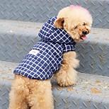 Собака Плащи Одежда для собак Сохраняет тепло Английский Серый Красный Синий