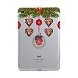 Para iPad (2017) Carcasa Funda Transparente Diseños Cubierta Trasera Funda Transparente Navidad Suave TPU para Apple iPad (2017) iPad Pro
