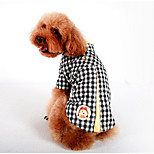 Dog Shirt / T-Shirt Dog Clothes Casual/Daily Plaid/Check Yellow