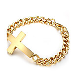 Men's Women's Chain Bracelet Punk Rock Titanium Steel Cross Jewelry For Party Gift