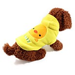 Dog Vest Dog Clothes Casual/Daily Cartoon Yellow