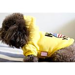 Собака Толстовки Одежда для собак На каждый день Носки детские Желтый Красный
