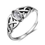 Жен. Классические кольца Винтаж Стерлинговое серебро Геометрической формы Бижутерия Назначение Для вечеринок